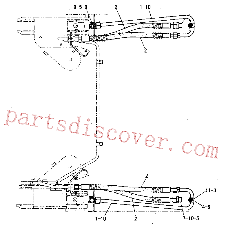CAT 8T-1887 for 5 Ripper(TTT) hydraulic system 220-0897 Assembly