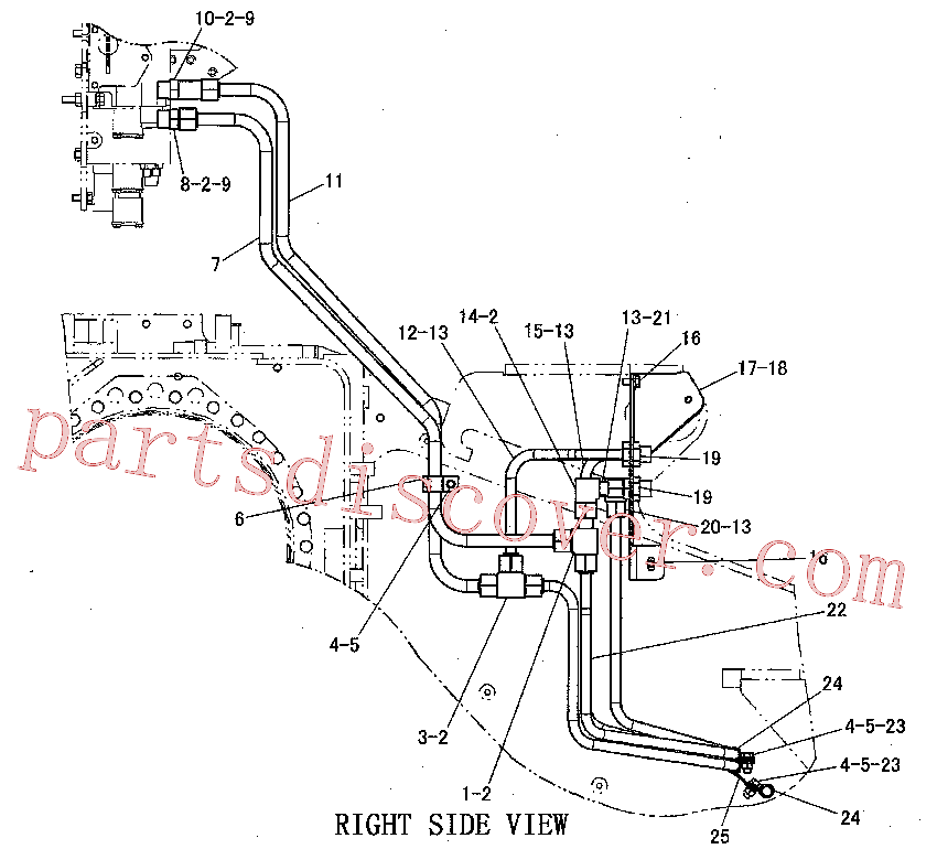 CAT 8T-1887 for 725C Articulated Truck(ADT) hydraulic system 220-0896 Assembly