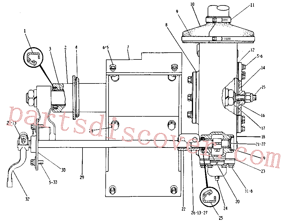 CAT 034-3557 for 120H NA Motor Grader(MG) steering and braking system 8D-6901 Assembly
