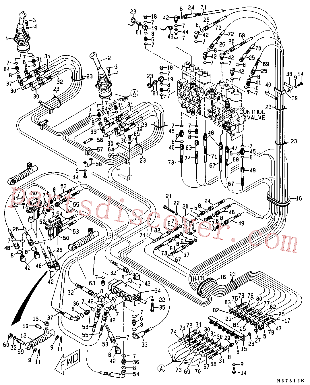 CAT 105-3484 for 326D2 L Excavator(EXC) hydraulic system 5I-8607 Assembly