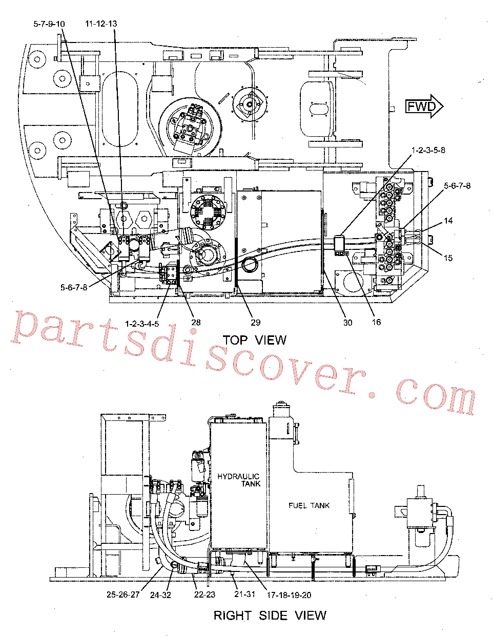 CAT 8T-8441 for 225 Excavator(EXC) hydraulic system 231-8431 Assembly