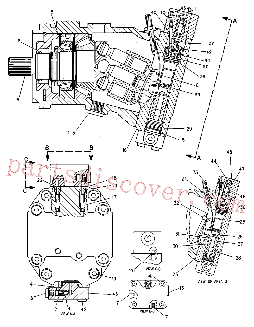 CAT 8T-0341 for 336D Excavator(EXC) power train 7X-8163 Assembly