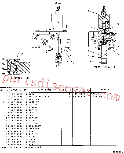CAT 087-4760 for 322-A N Excavator(EXC) hydraulic system 114-0670 Assembly