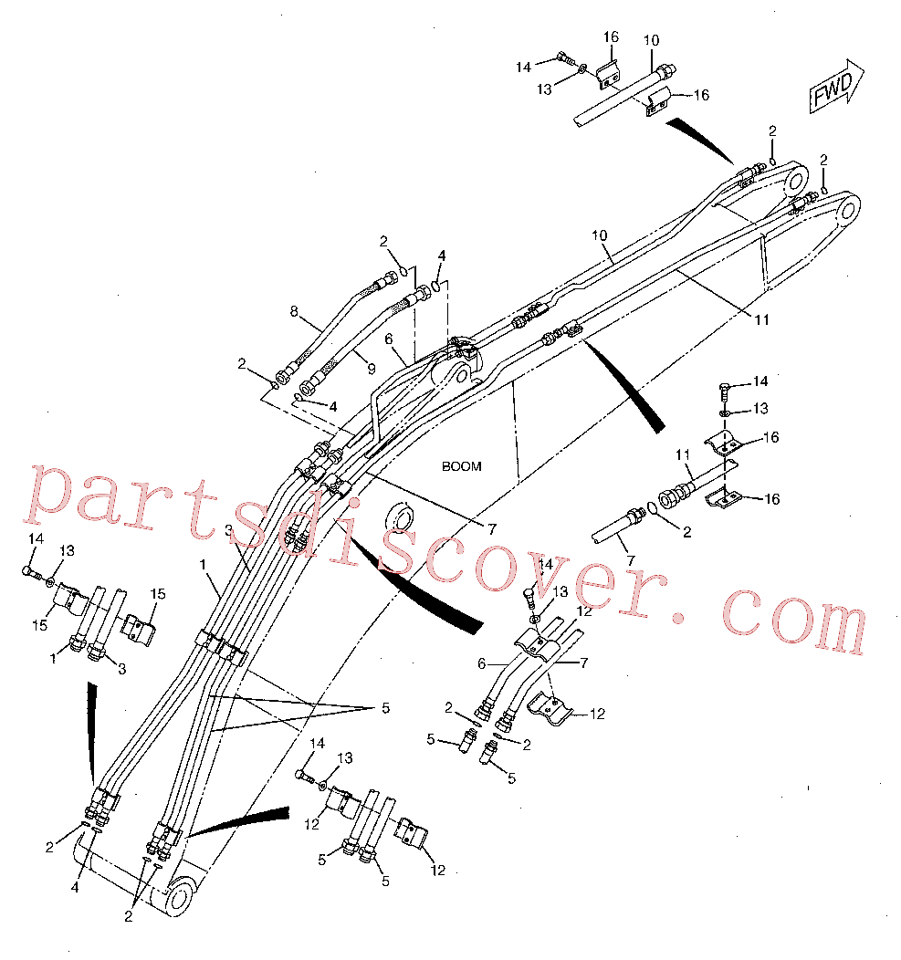 CAT 184-9251 for 320B S Excavator(EXC) hydraulic system 142-7759 Assembly