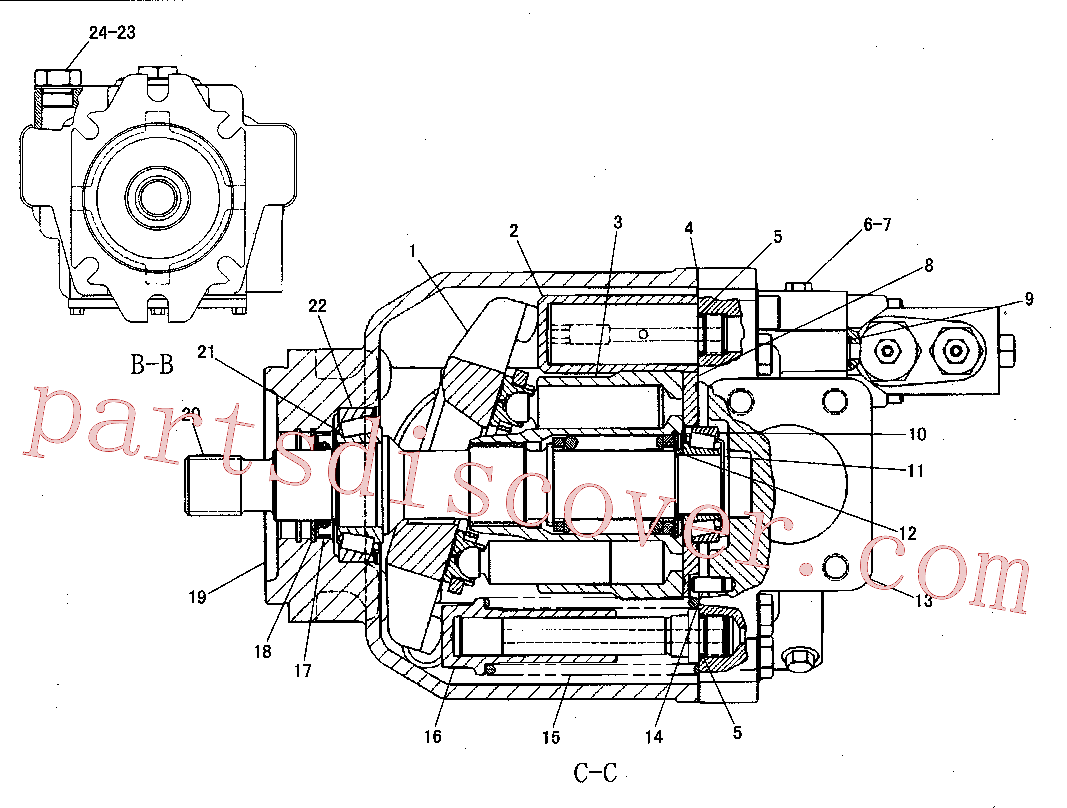 CAT 6V-7673 for IT62G II Integrated Toolcarrier(IT) hydraulic system 165-7634 Assembly