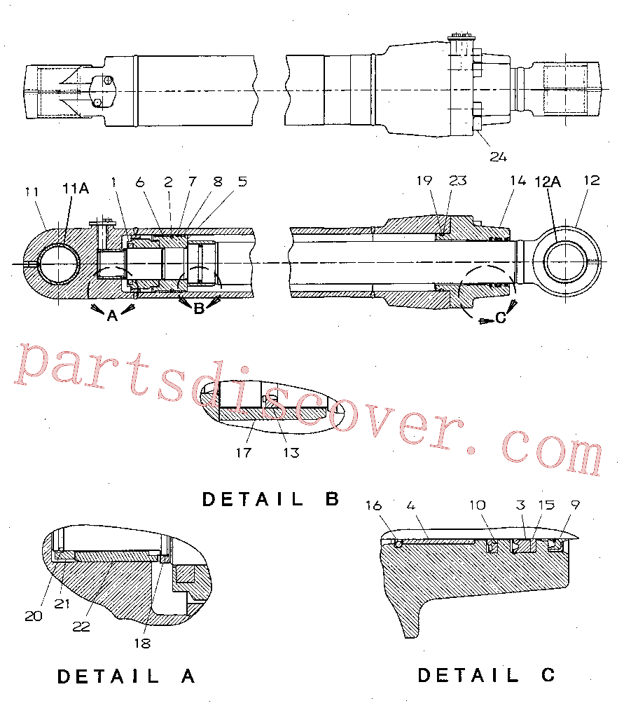 CAT 103-8380 for 330F Excavator(EXC) hydraulic system 194-8410 Assembly