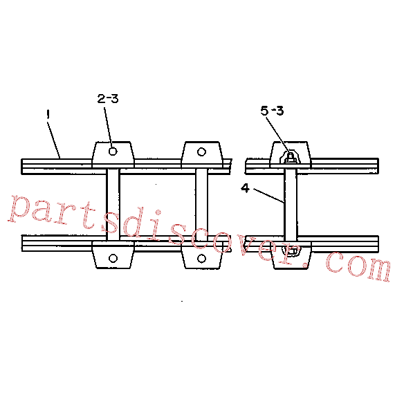 CAT 031-9099 for 215 Excavator(EXC) chassis and undercarriage 3V-5270 Assembly