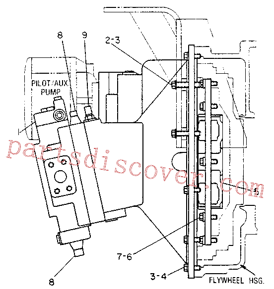 CAT 8T-8441 for 215B Excavator(EXC) hydraulic system 6W-6598 Assembly