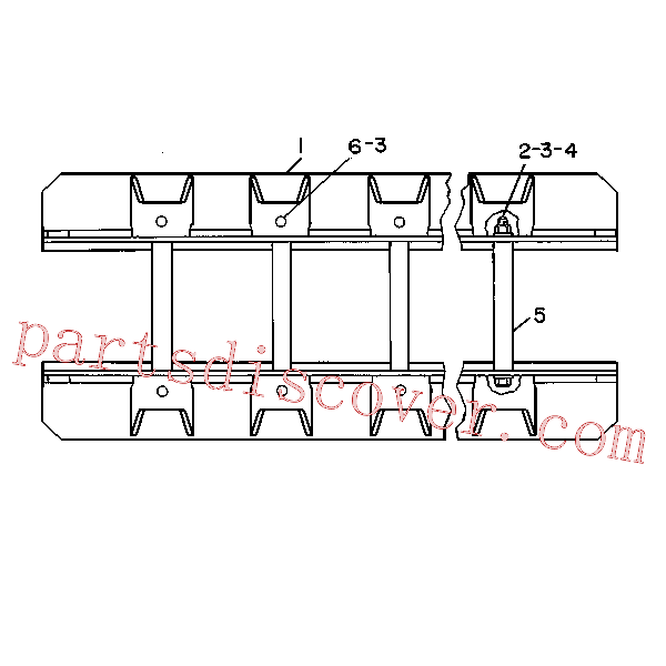 CAT 031-9099 for 219D Excavator(EXC) chassis and undercarriage 9V-4595 Assembly