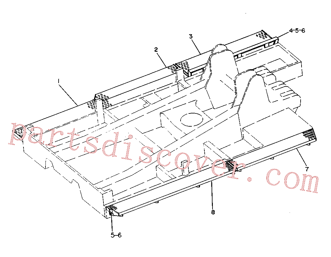 CAT 8T-8917 for 54H Winch(TSKD) frame and body 5C-6501 Assembly
