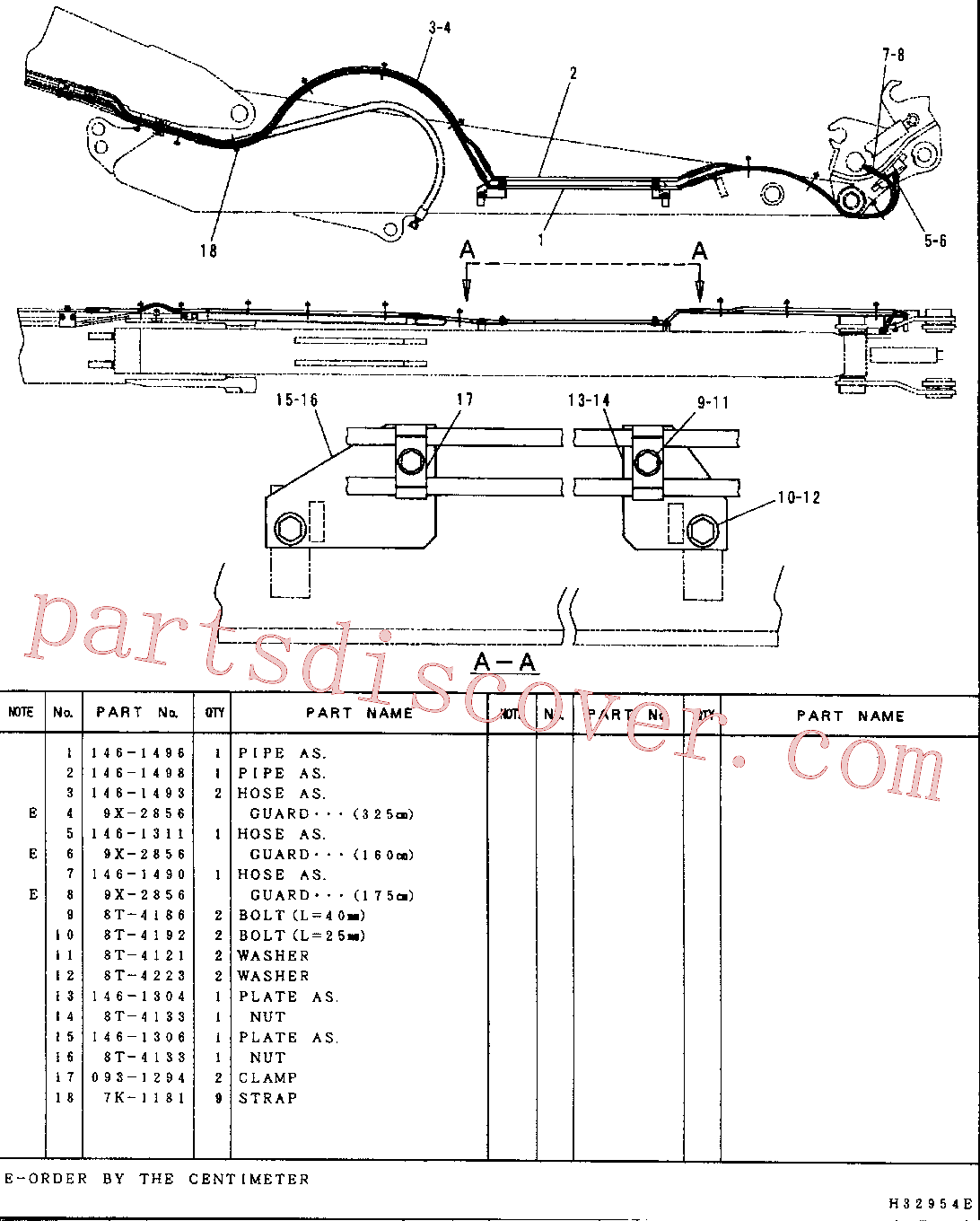 CAT 146-1306 for 312B Excavator(EXC) hydraulic system 146-1478 Assembly