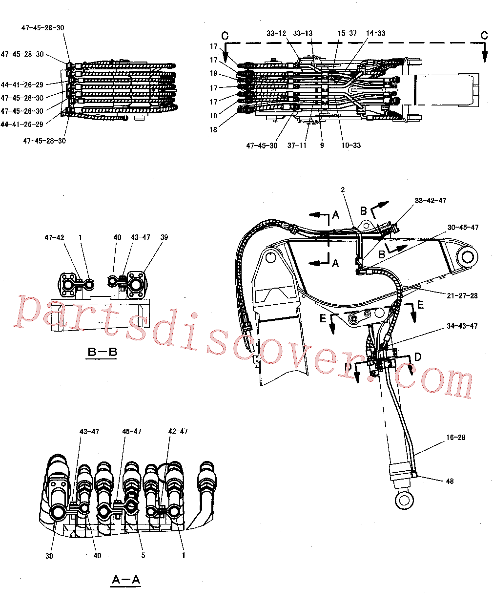 CAT 263-4711 for 345C Excavator(EXC) hydraulic system 300-8170 Assembly