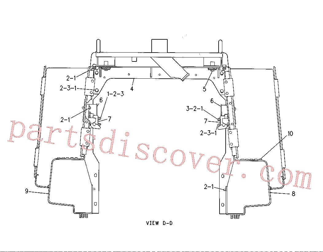 CAT 7D-5135 for IT18B Integrated Toolcarrier(IT) chassis and undercarriage 7P-8935 Assembly