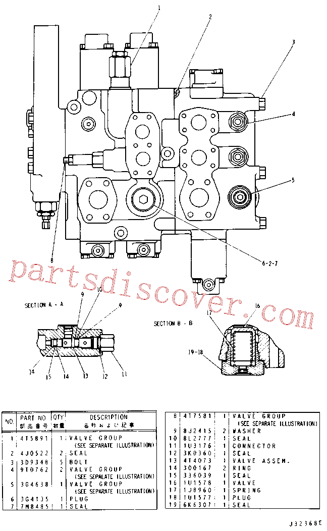 CAT 9J-5778 for 225 Excavator(EXC) hydraulic system 4T-7003 Assembly