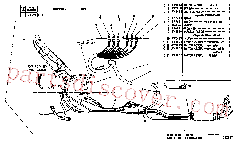 CAT 5C-6697 for 235B Excavator(EXC) starting and electrical system 3V-1931 Assembly