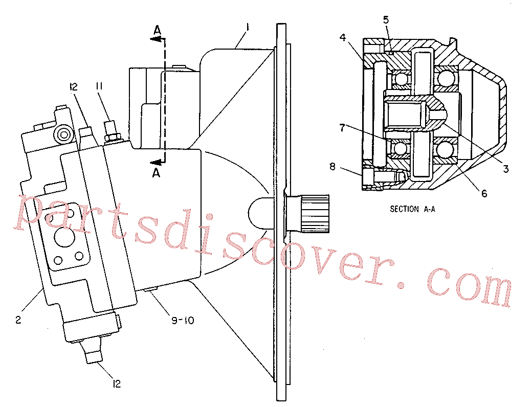 CAT 8T-8441 for 225 Excavator(EXC) hydraulic system 9T-4731 Assembly