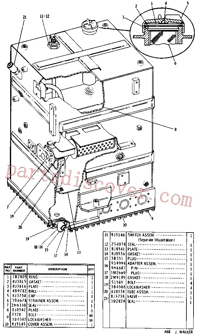 CAT 9J-5143 for 235C Front Shovel(EXC) hydraulic system 9J-5141 Assembly