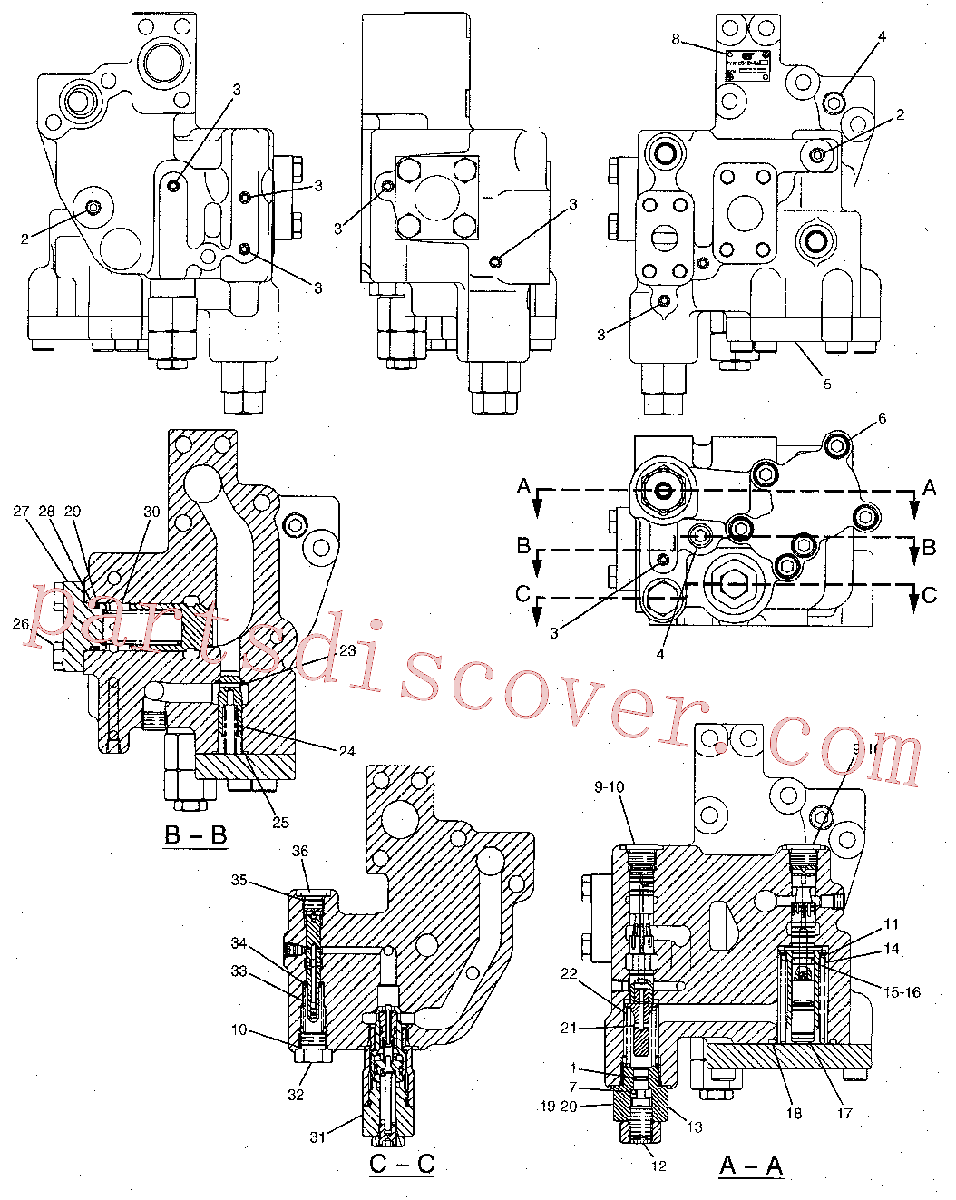 CAT 147-4184 for 336D2 L Excavator(EXC) hydraulic system 171-3266 Assembly