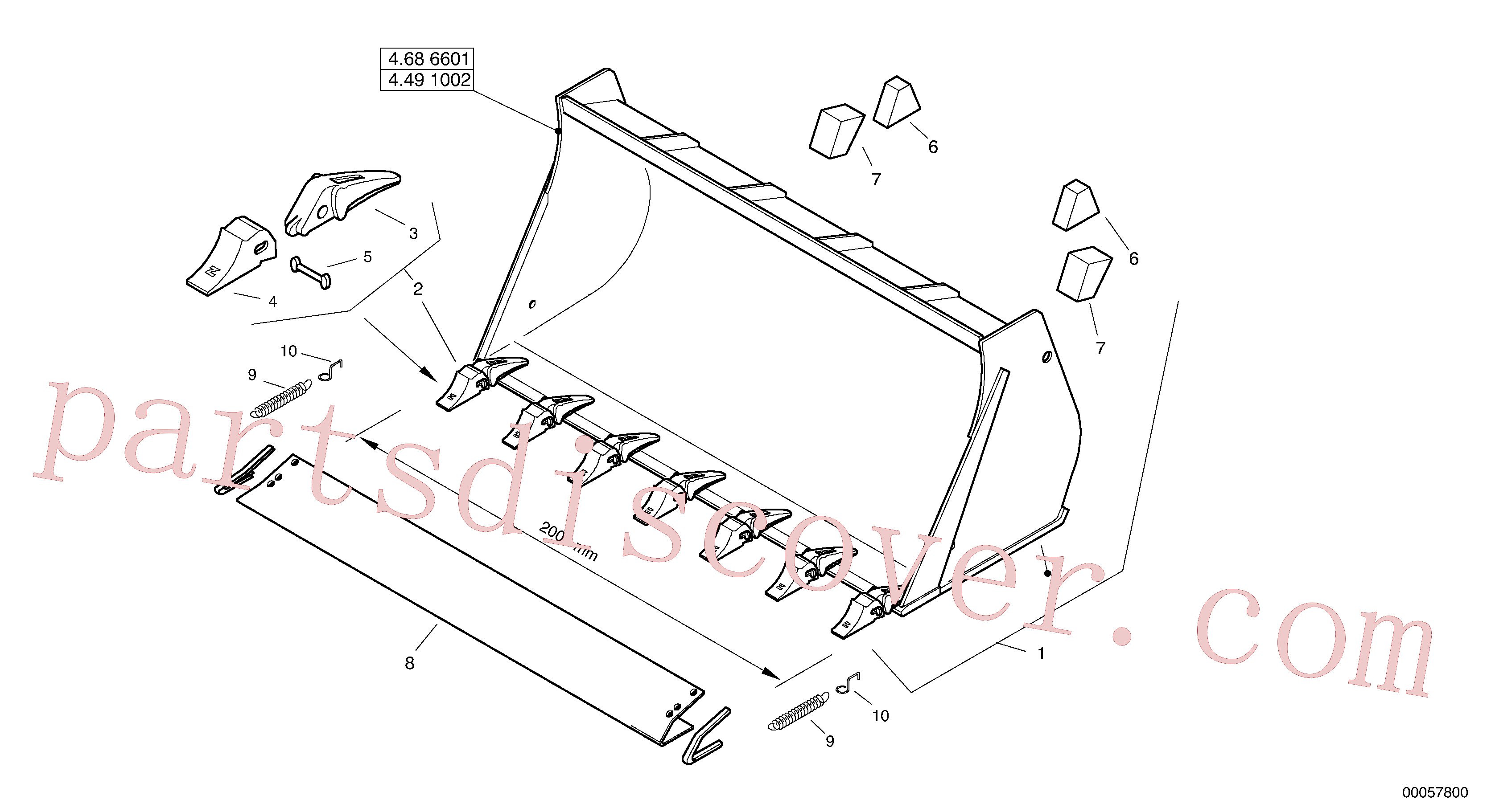 ZM2809794 for Volvo Bucket with teeth - TPZ(00057800 assembly)