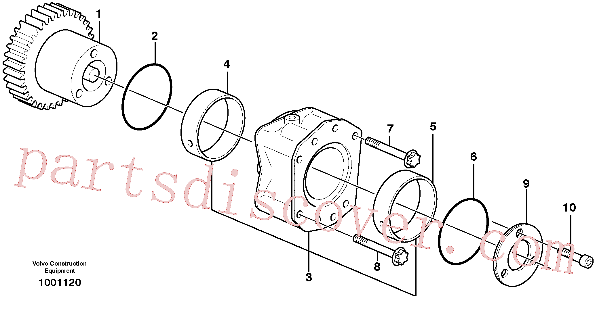 ZM2900654 for Volvo Pump drive power take-off(1001120 assembly)