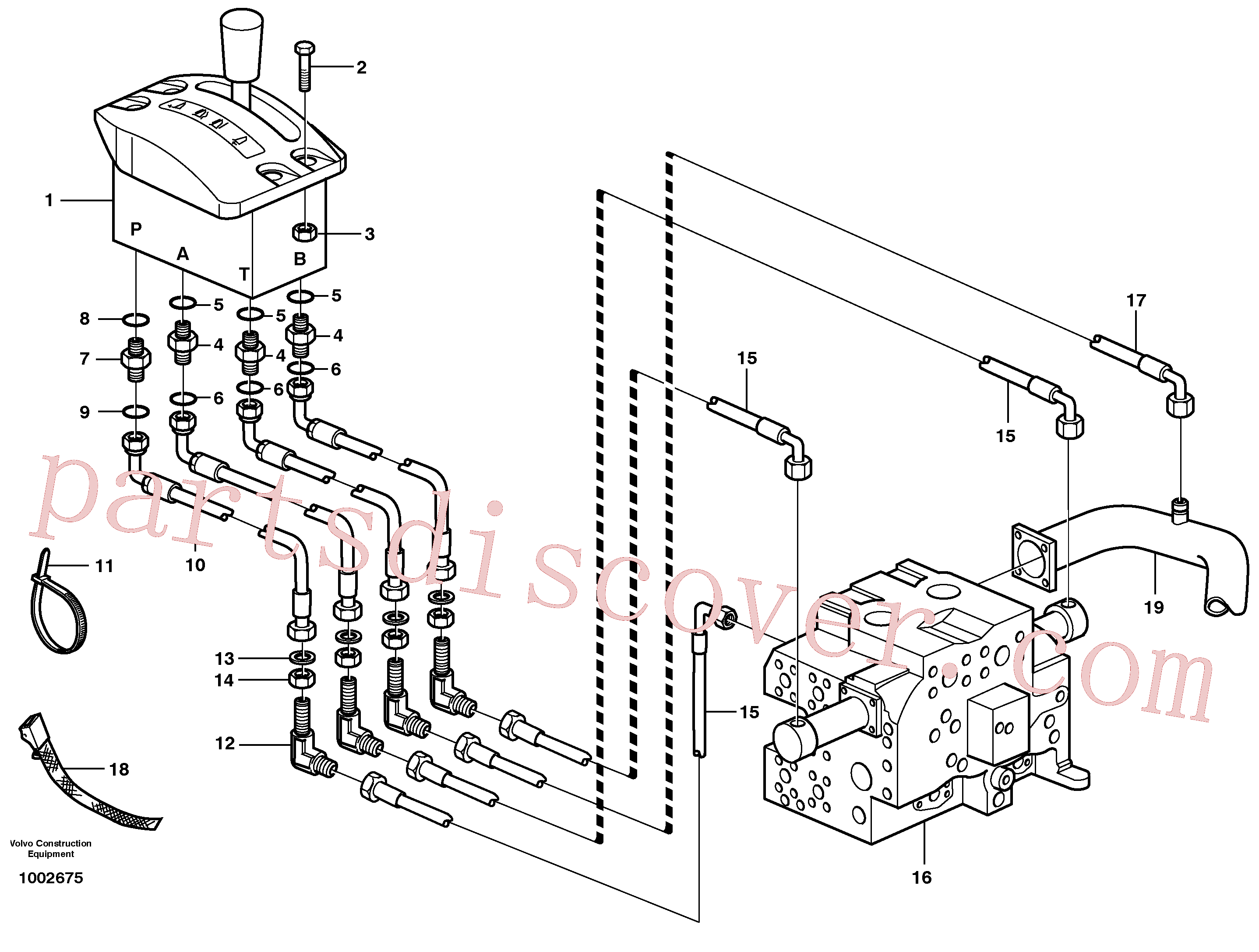 VOE14535689 for Volvo Servo system, tipper control(1002675 assembly)