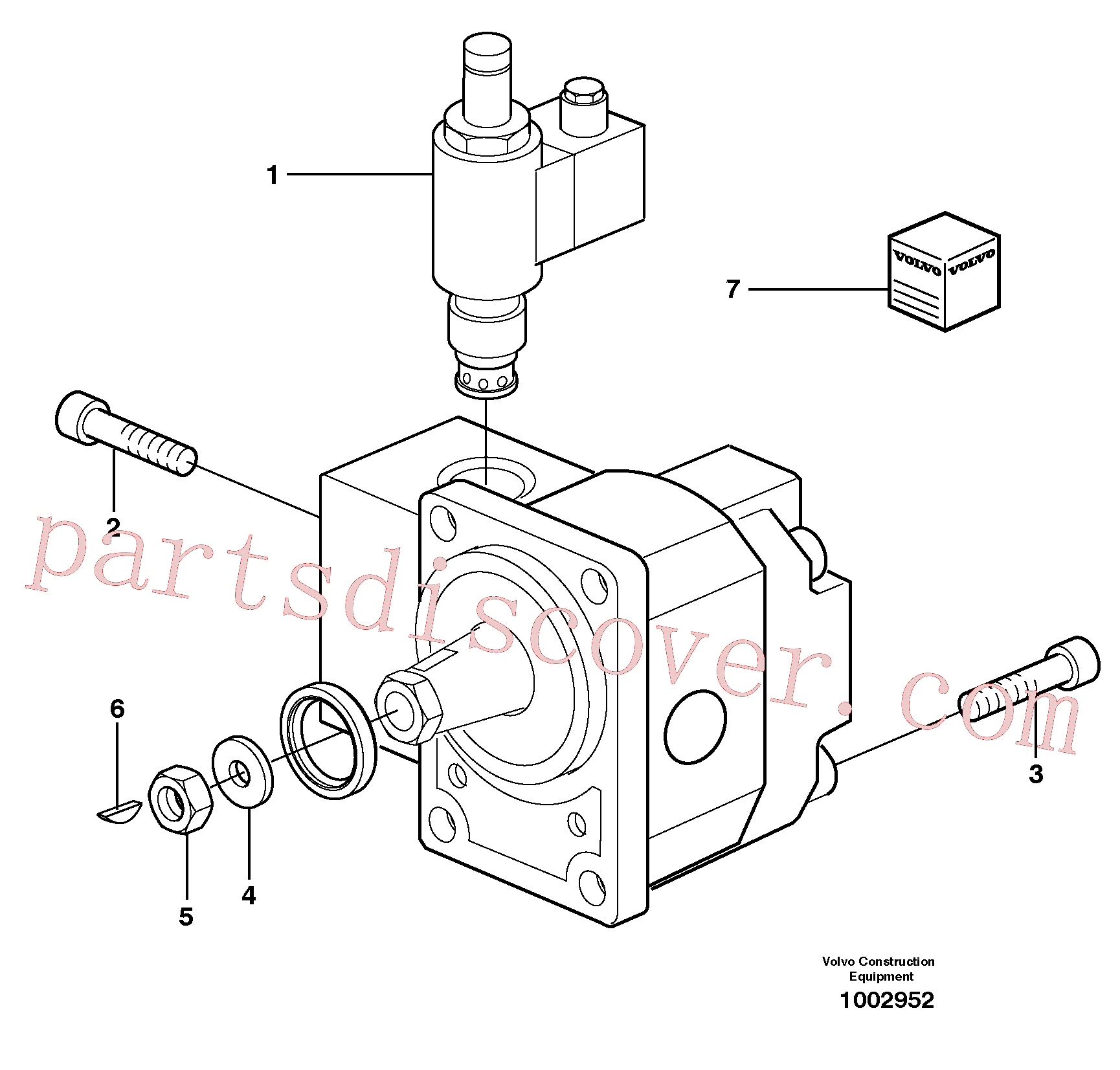 SA9286-19000 for Volvo Hydraulic motor(1002952 assembly)