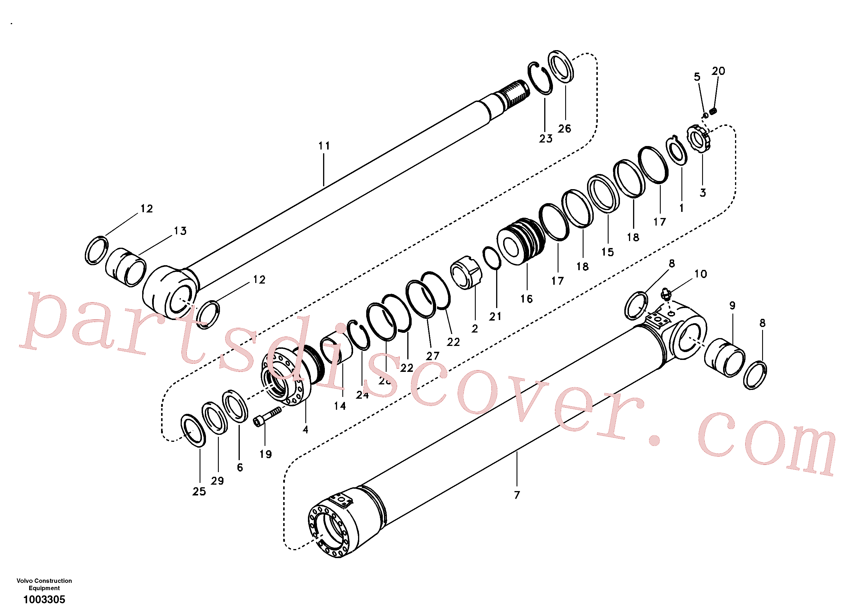 VOE14530665 for Volvo Boom cylinder(1003305 assembly)
