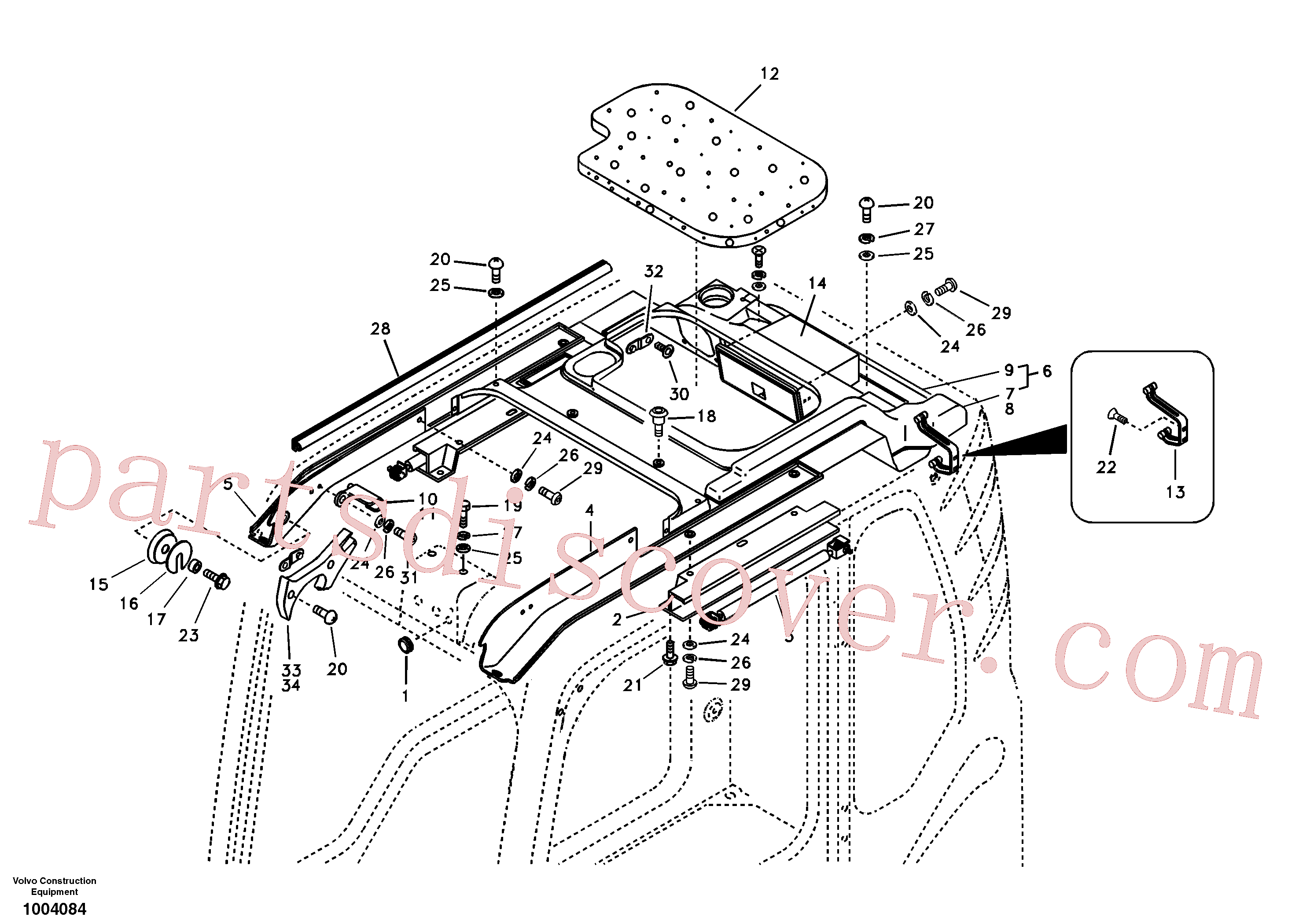 VOE969737 for Volvo Operator's cab(1004084 assembly)