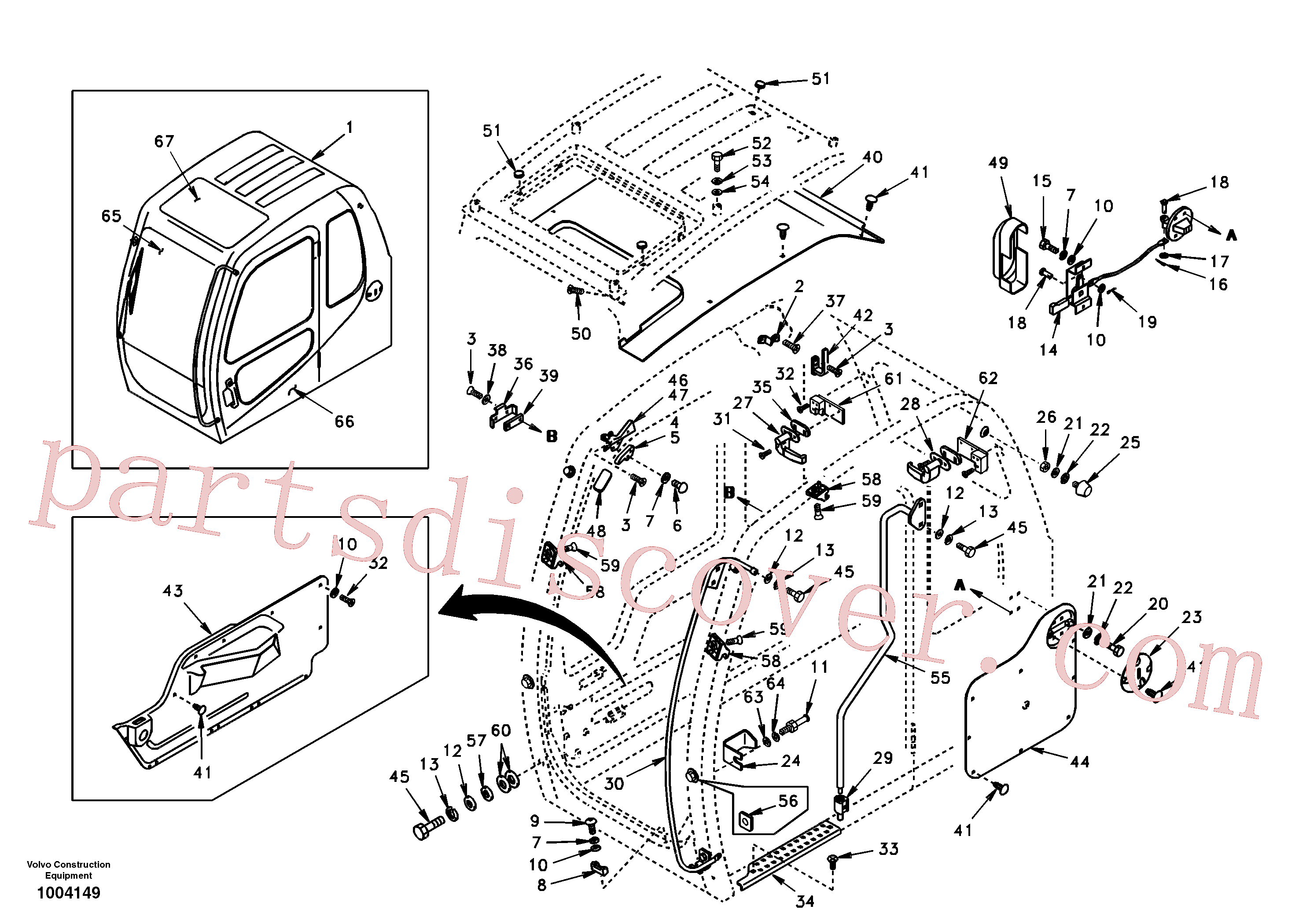 VOE969737 for Volvo Operator's cab(1004149 assembly)