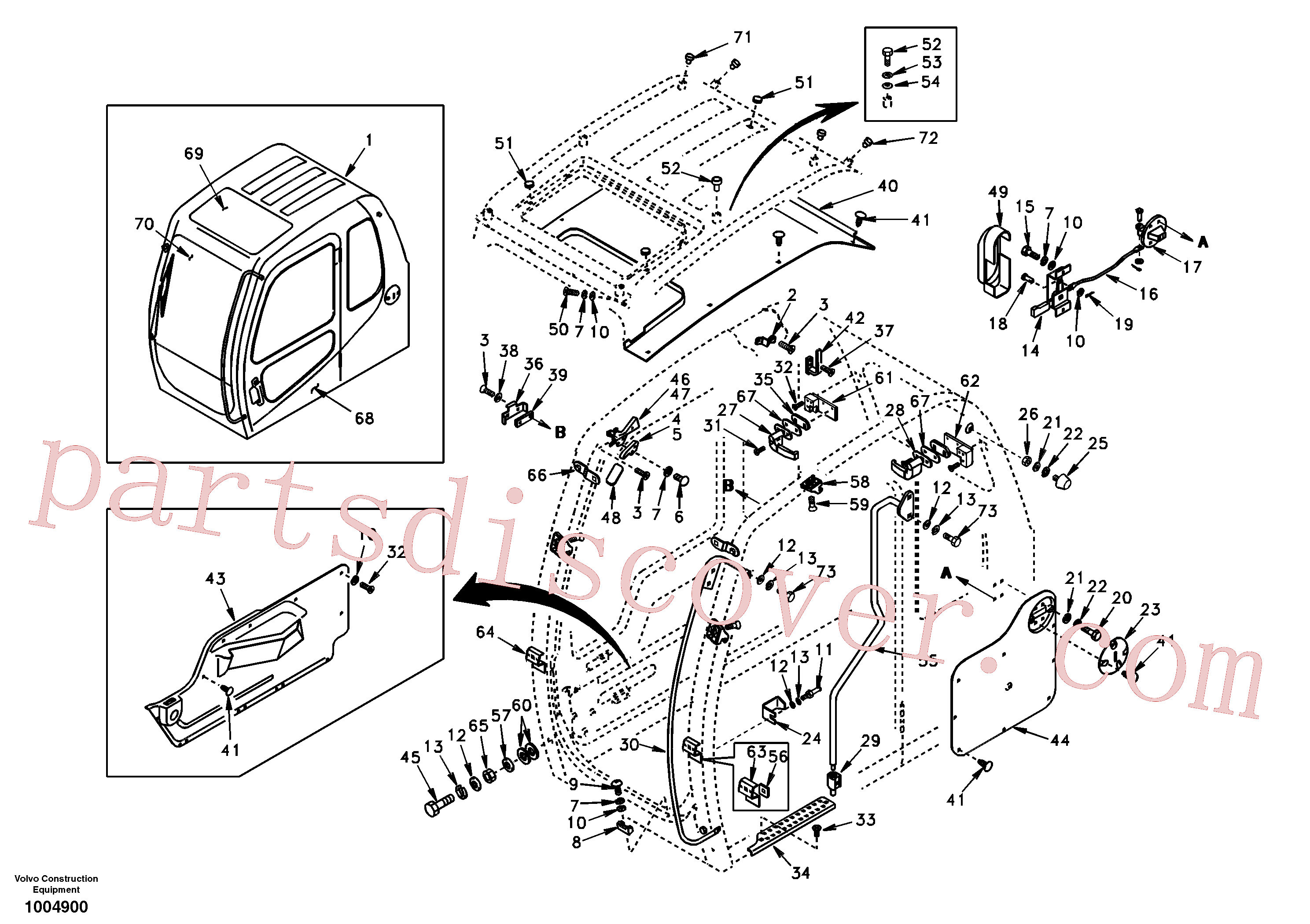 VOE969737 for Volvo Operator's cab(1004900 assembly)