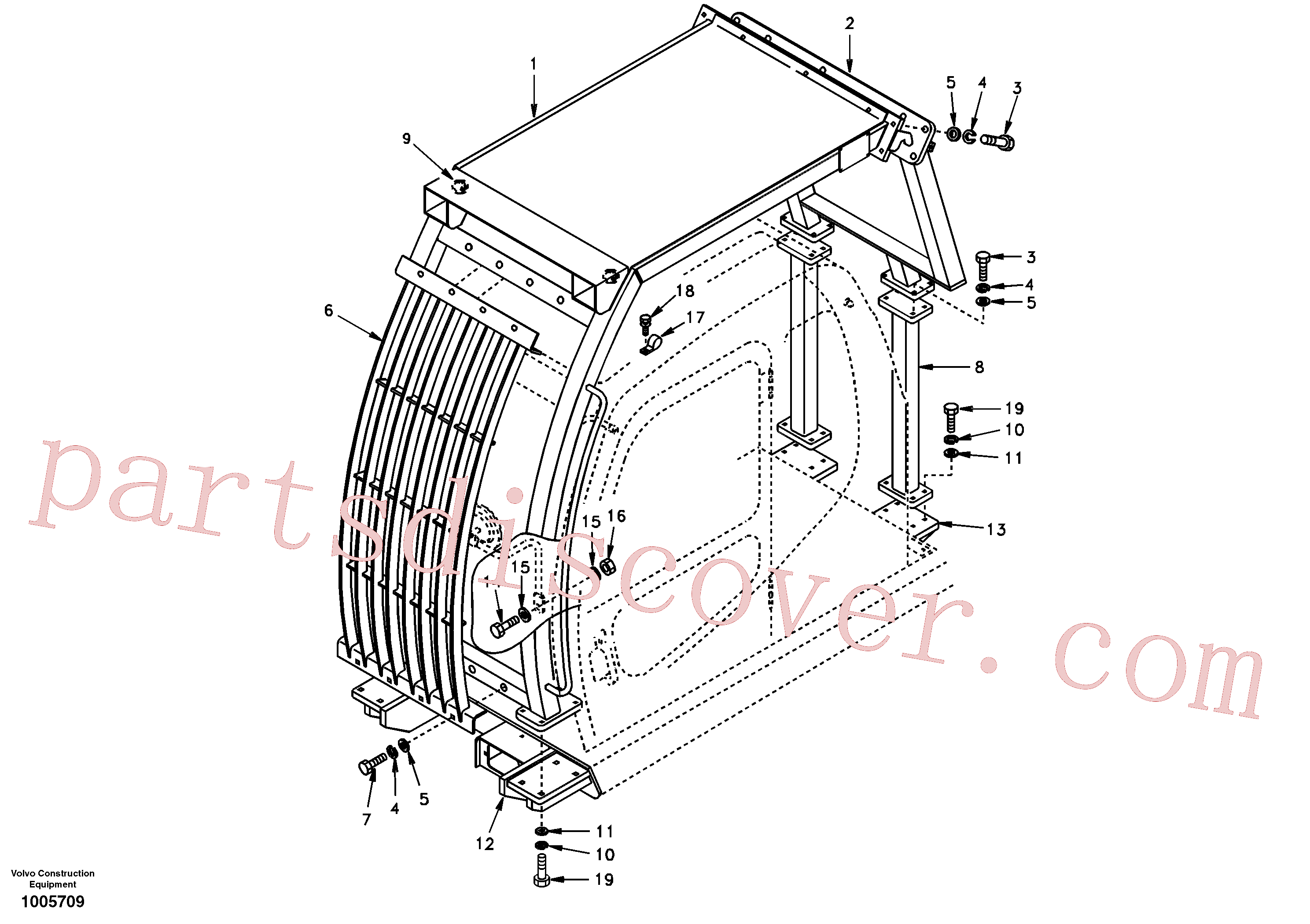 SA9213-16000 for Volvo Falling object guards(1005709 assembly)