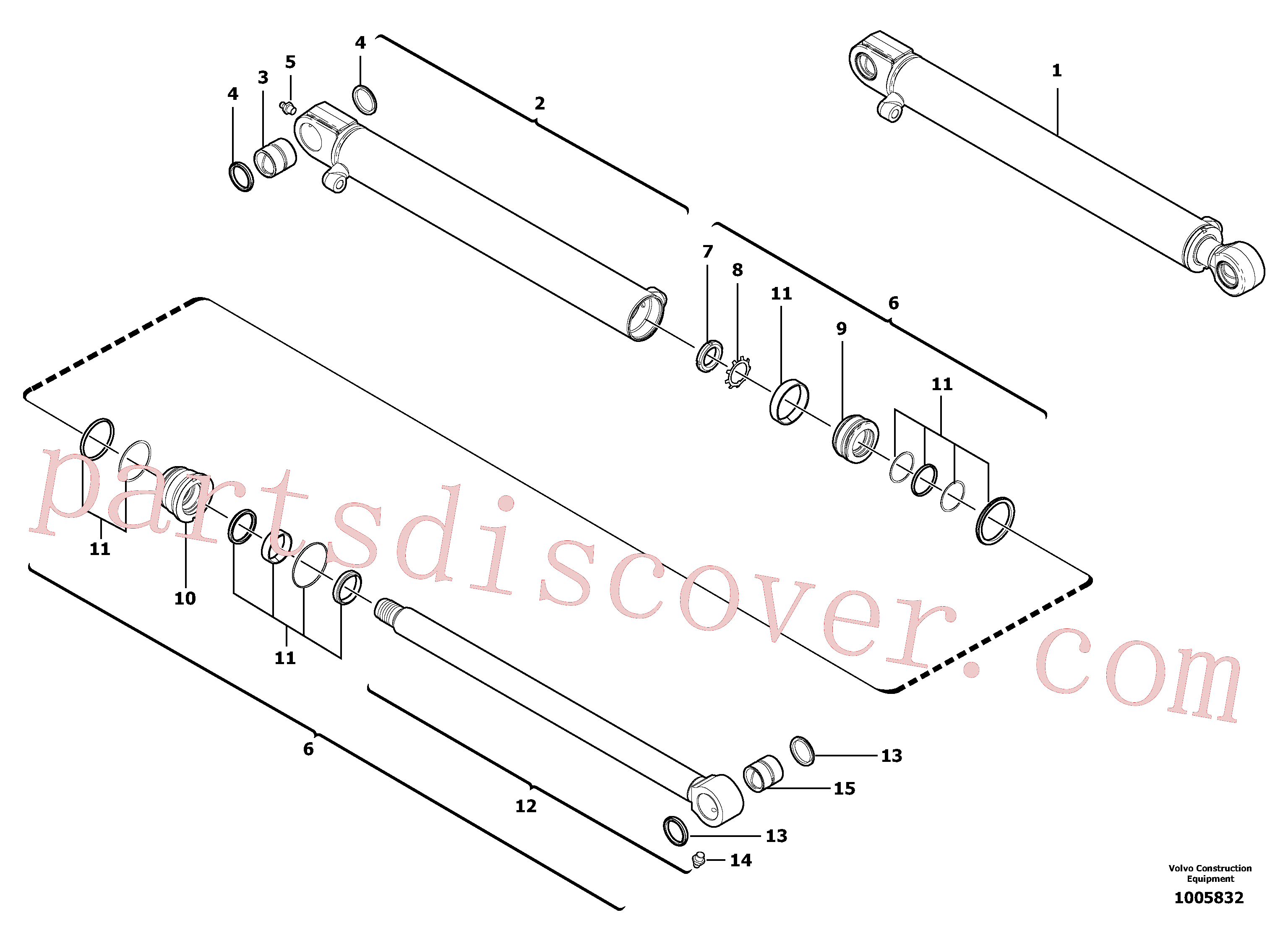 China Made VOE11800607 Cylinder parts for Volvo Excavator