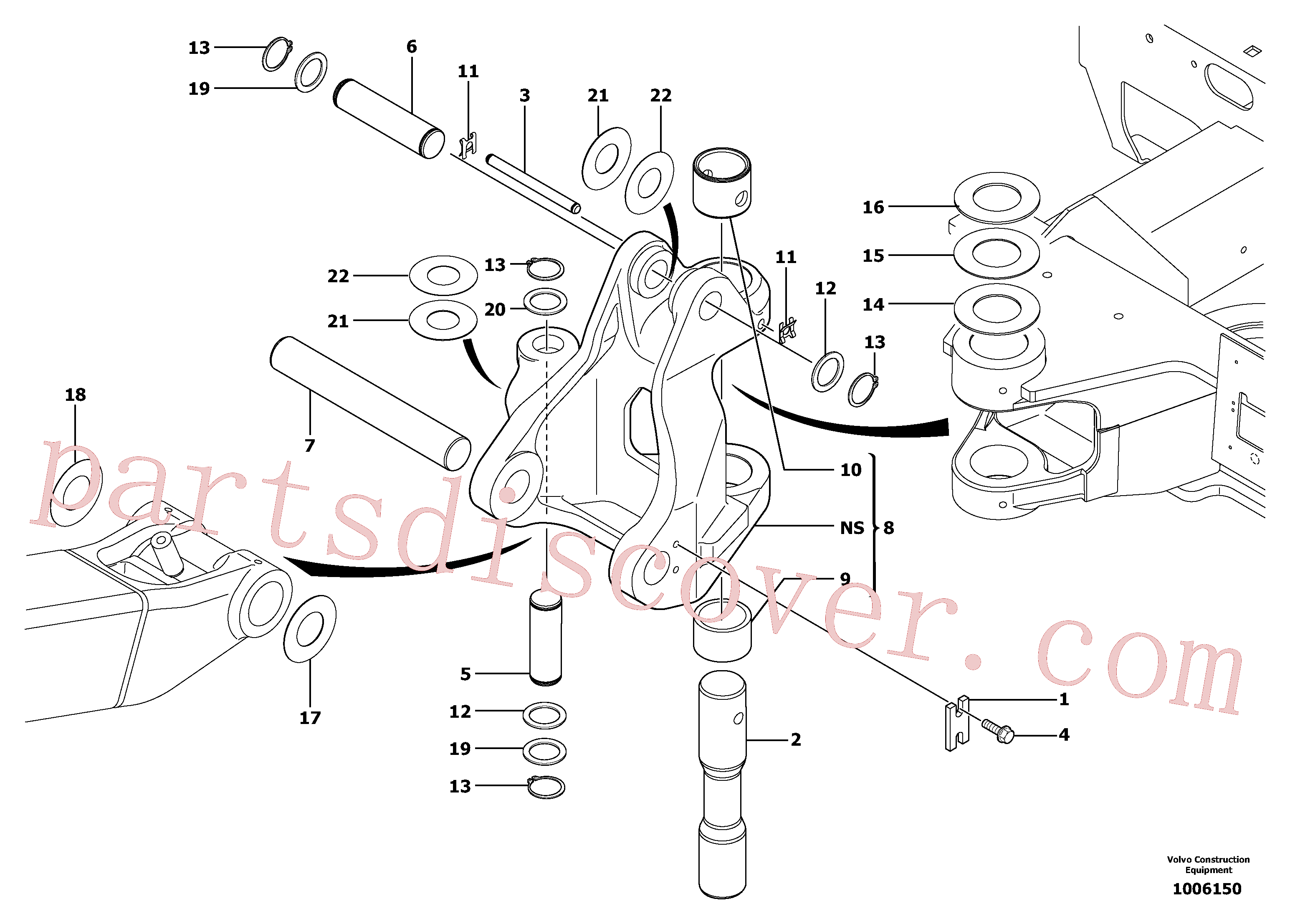 PJ3870247 for Volvo Pivot pin(1006150 assembly)
