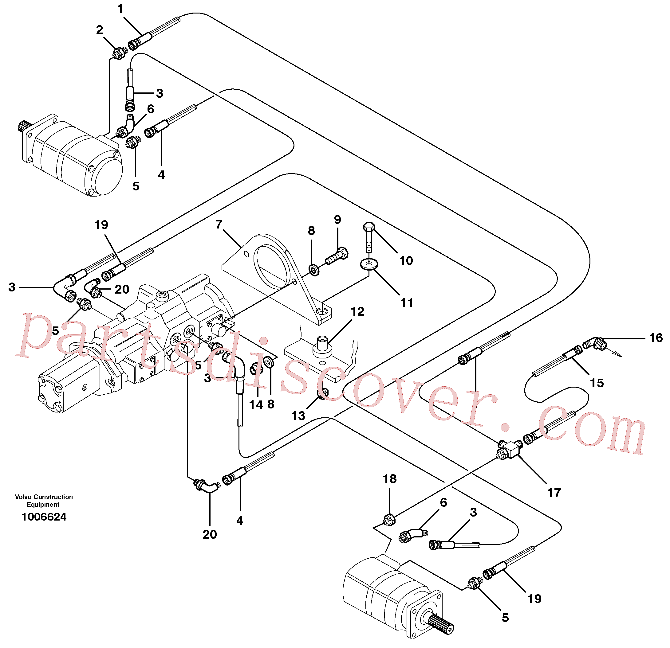 VOE11850571 for Volvo Hydraulic system Transport(1006624 assembly)