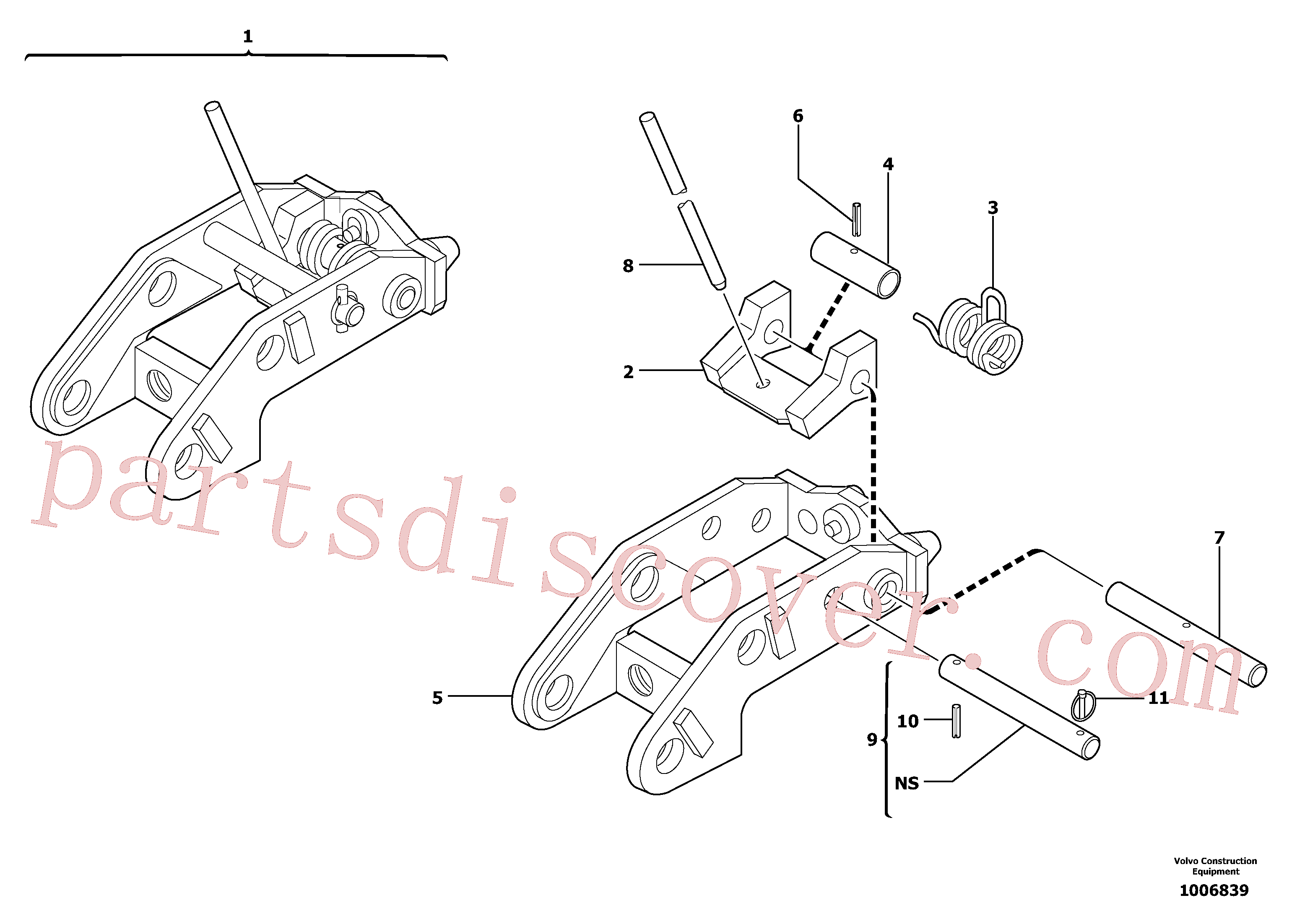 PJ3811956 for Volvo Tool holder / mechanical control(1006839 assembly)
