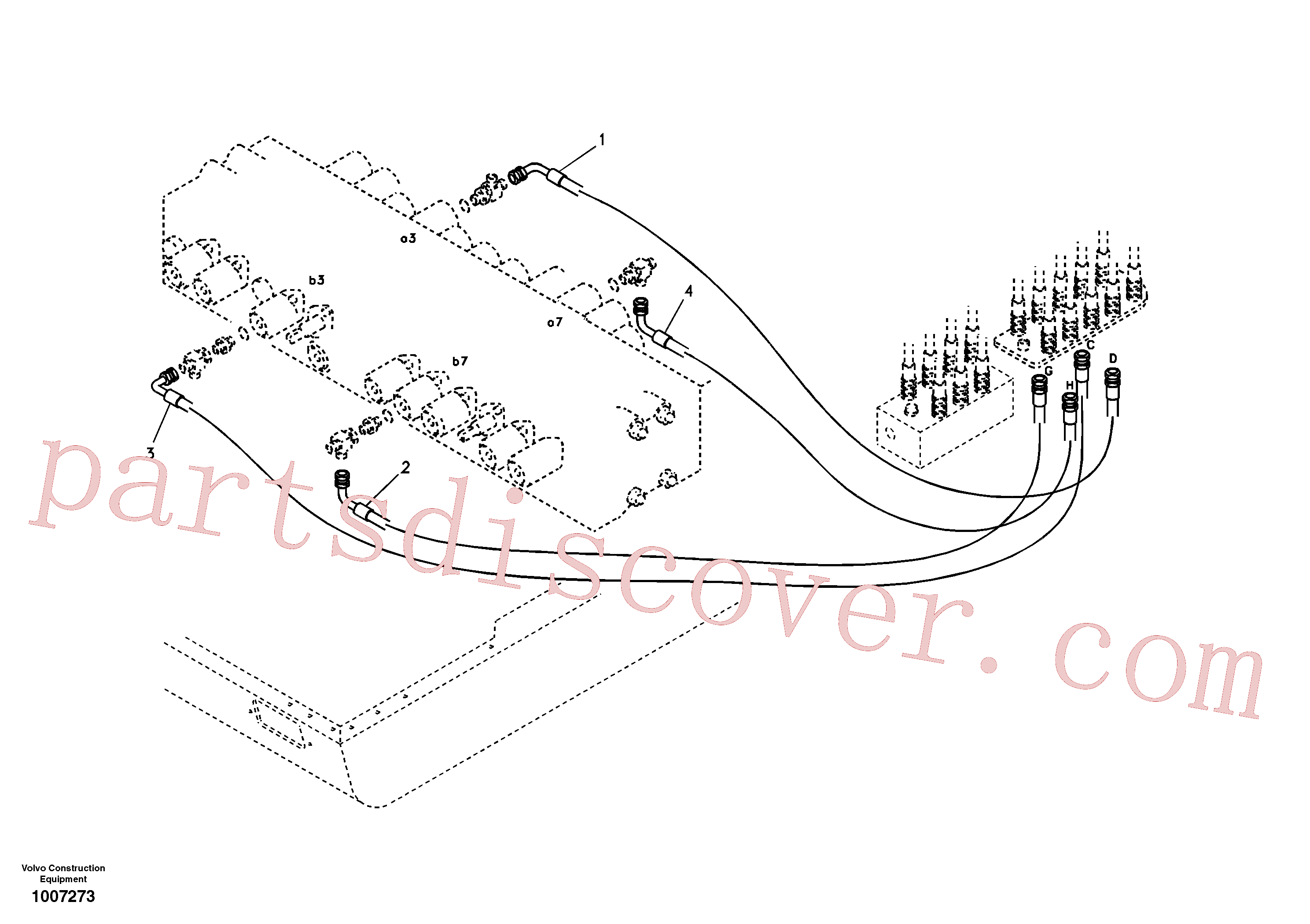 SA9453-02217 for Volvo Servo system, changing lever function(1007273 assembly)