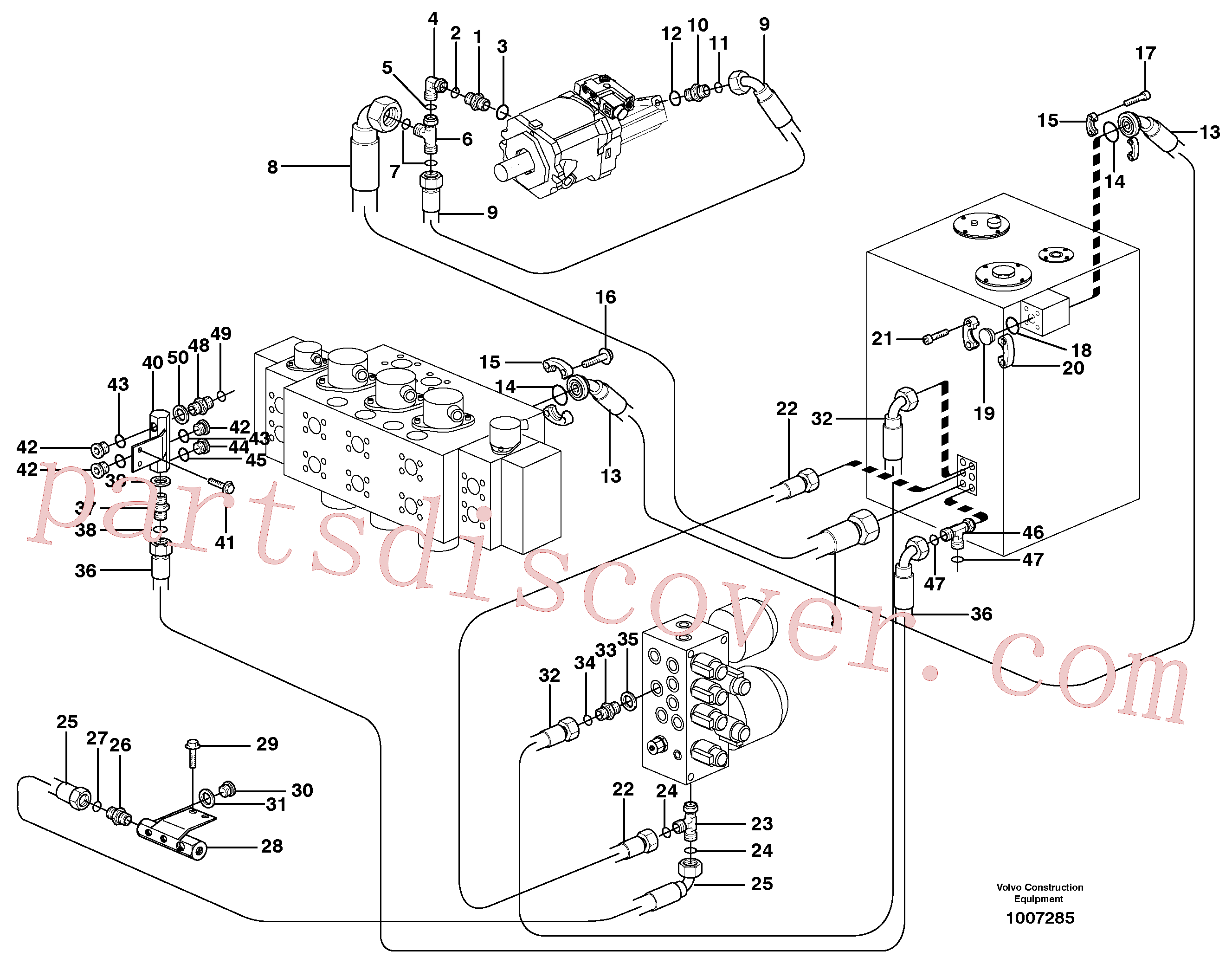 VOE14370290 for Volvo Hydraulic system, return lines(1007285 assembly)