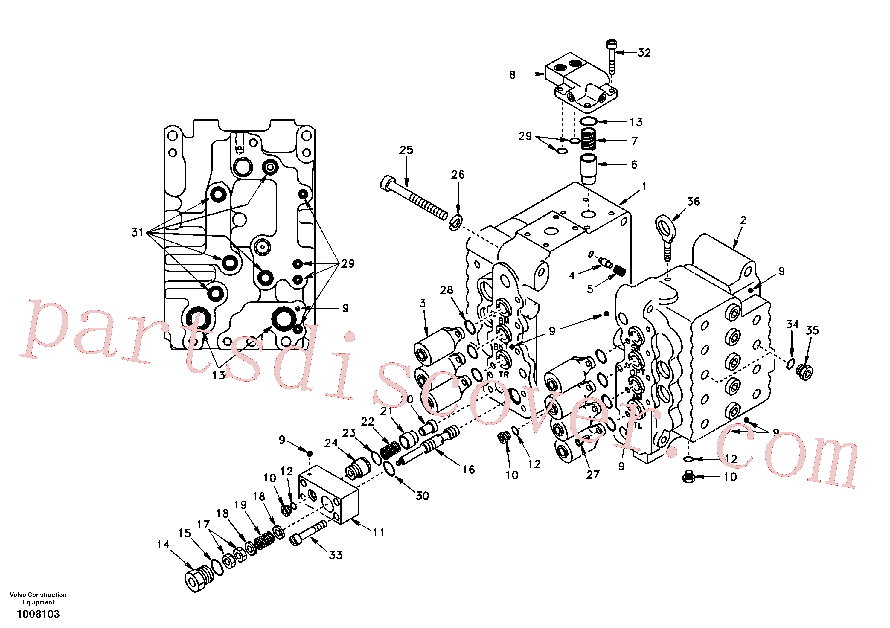 SA7273-11430 for Volvo Control valve with fitting parts.(1008103 assembly)