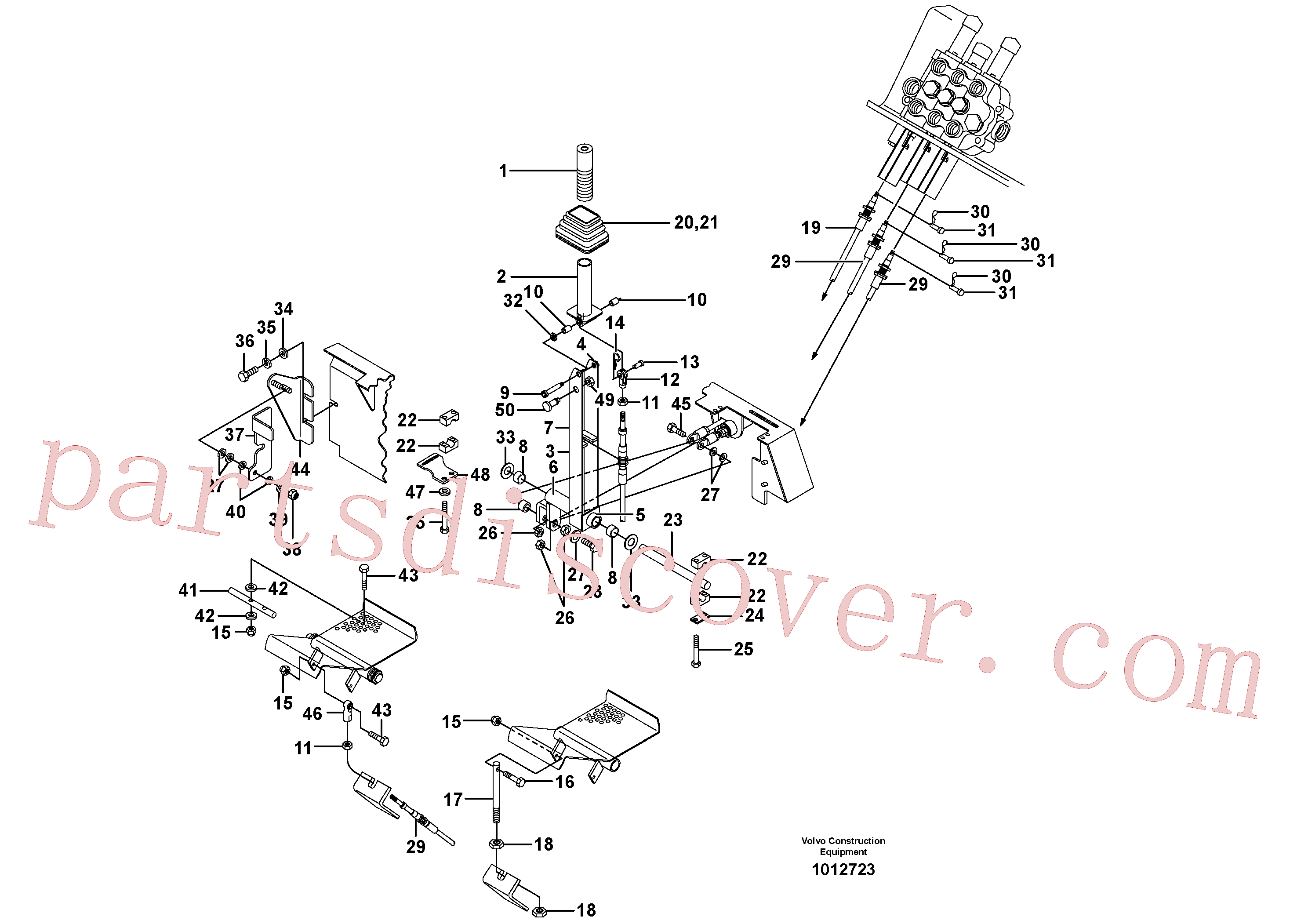 VOE940186 for Volvo Optional hand controls(1012723 assembly)