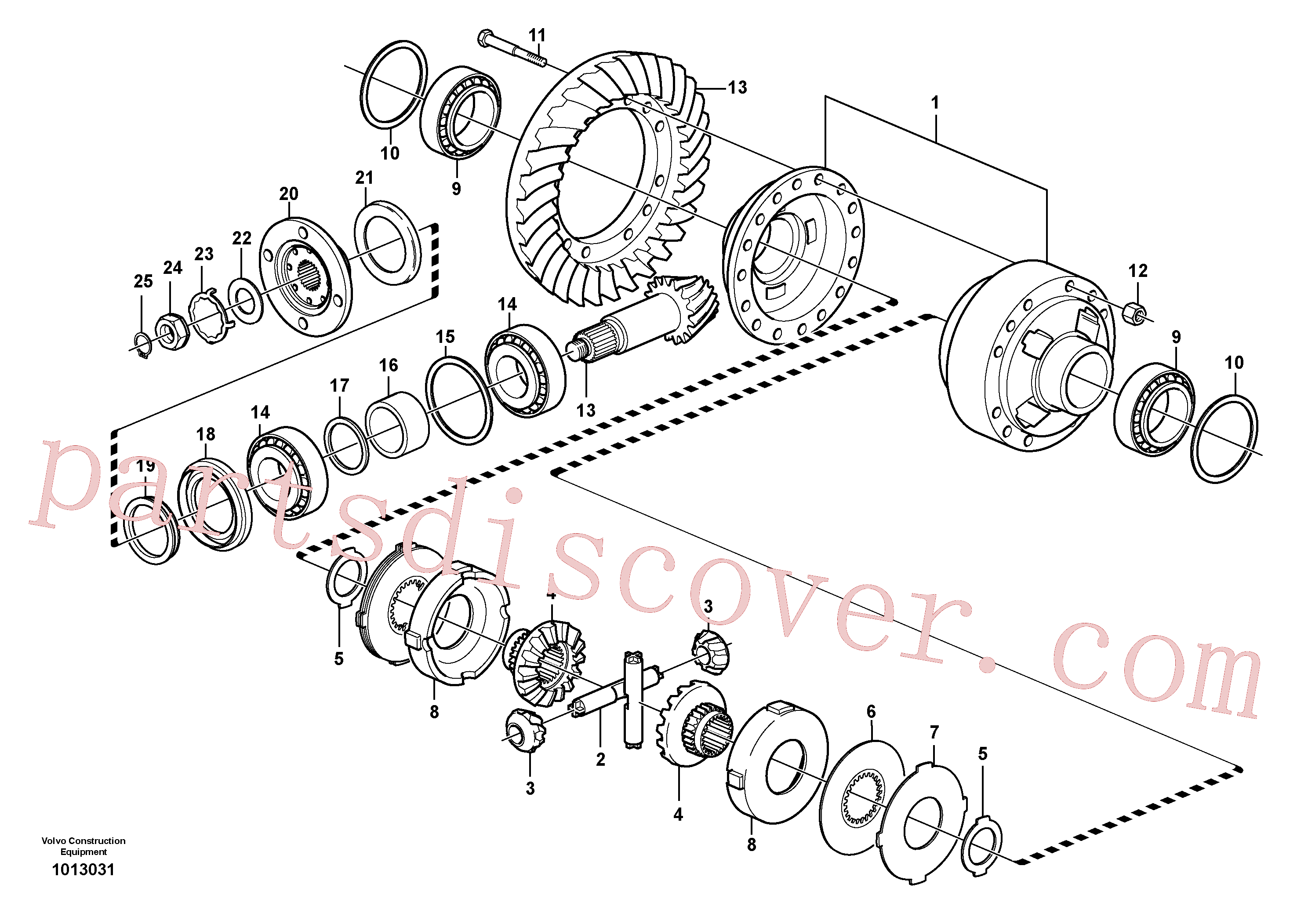VOE11034321 for Volvo Final drive, rear(1013031 assembly)