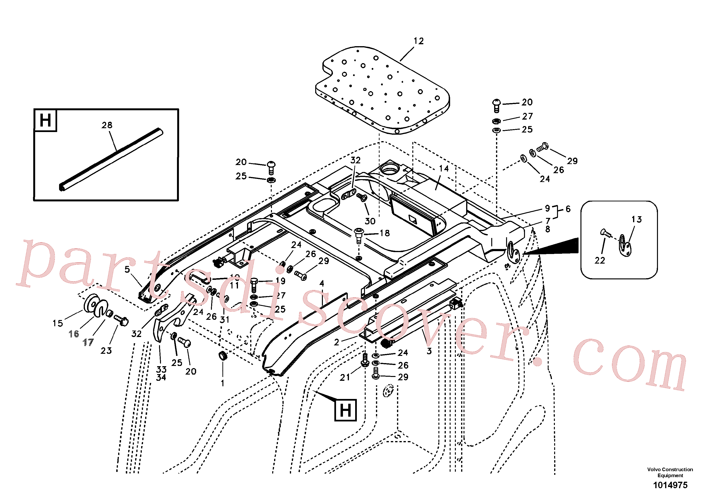 VOE969737 for Volvo Operator's cab(1014975 assembly)