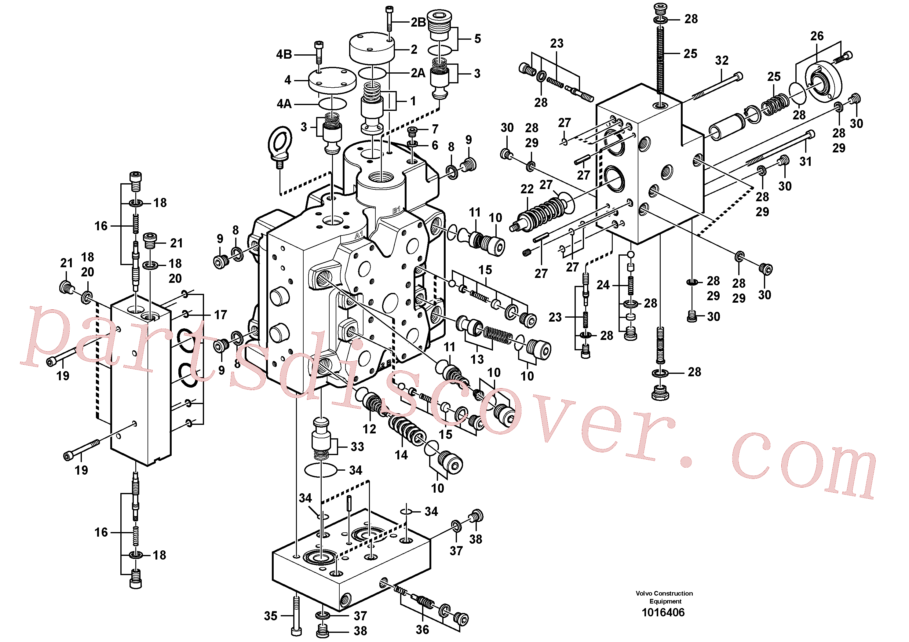 VOE13965768 for Volvo Control valve, Control valve.(1016406 assembly)