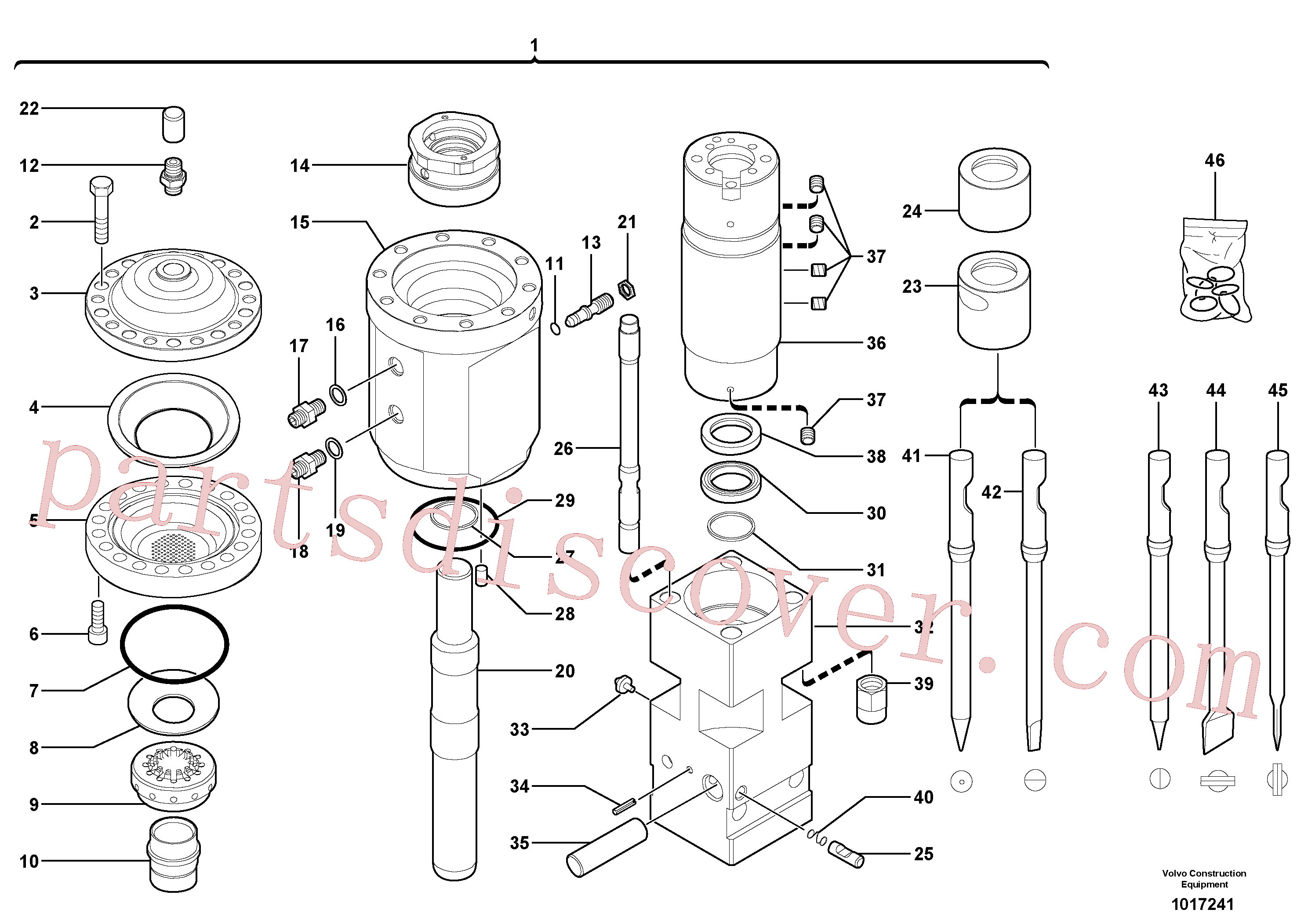 VOE11716191 for Volvo Hammer(1017241 assembly)