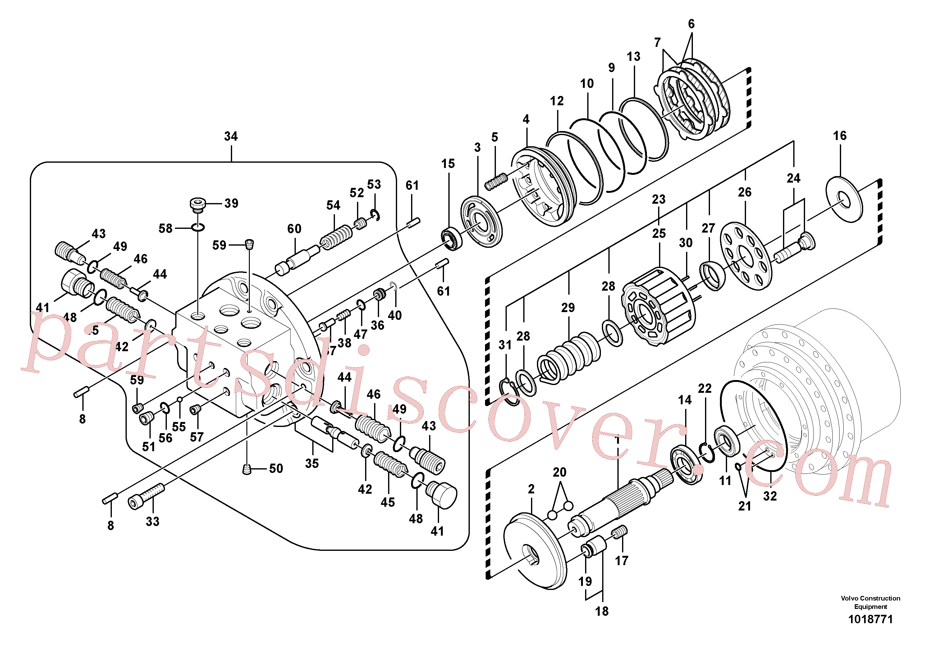 SA8230-23130 for Volvo Travel motor(1018771 assembly)