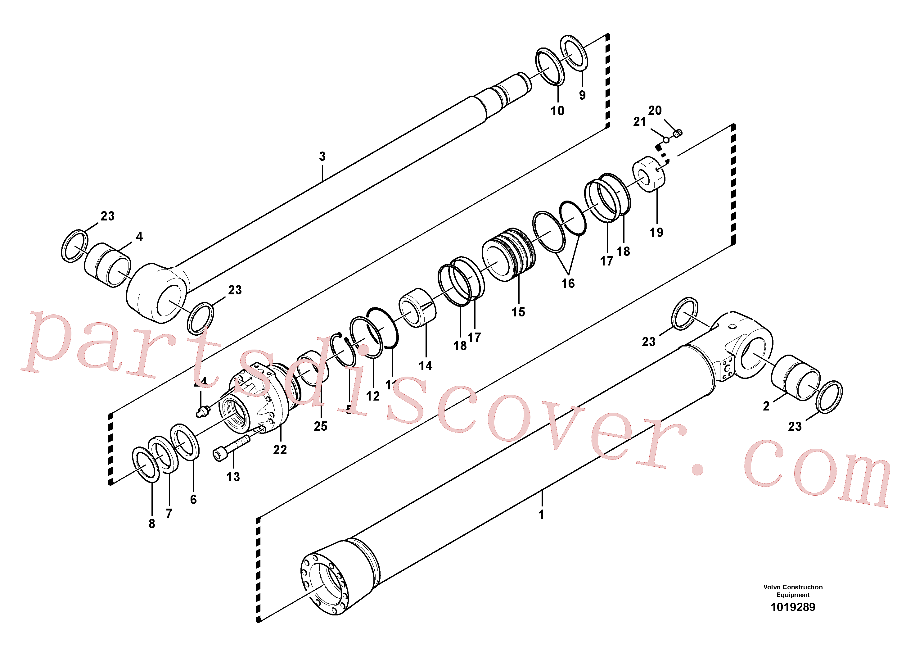 SA9676-71600 for Volvo Bucket cylinder(1019289 assembly)