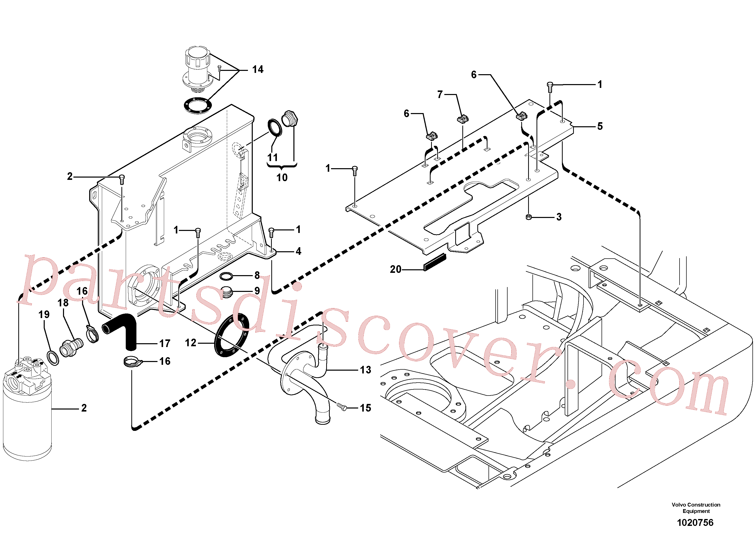 PJ3812233 Support for Volvo Excavator Parts