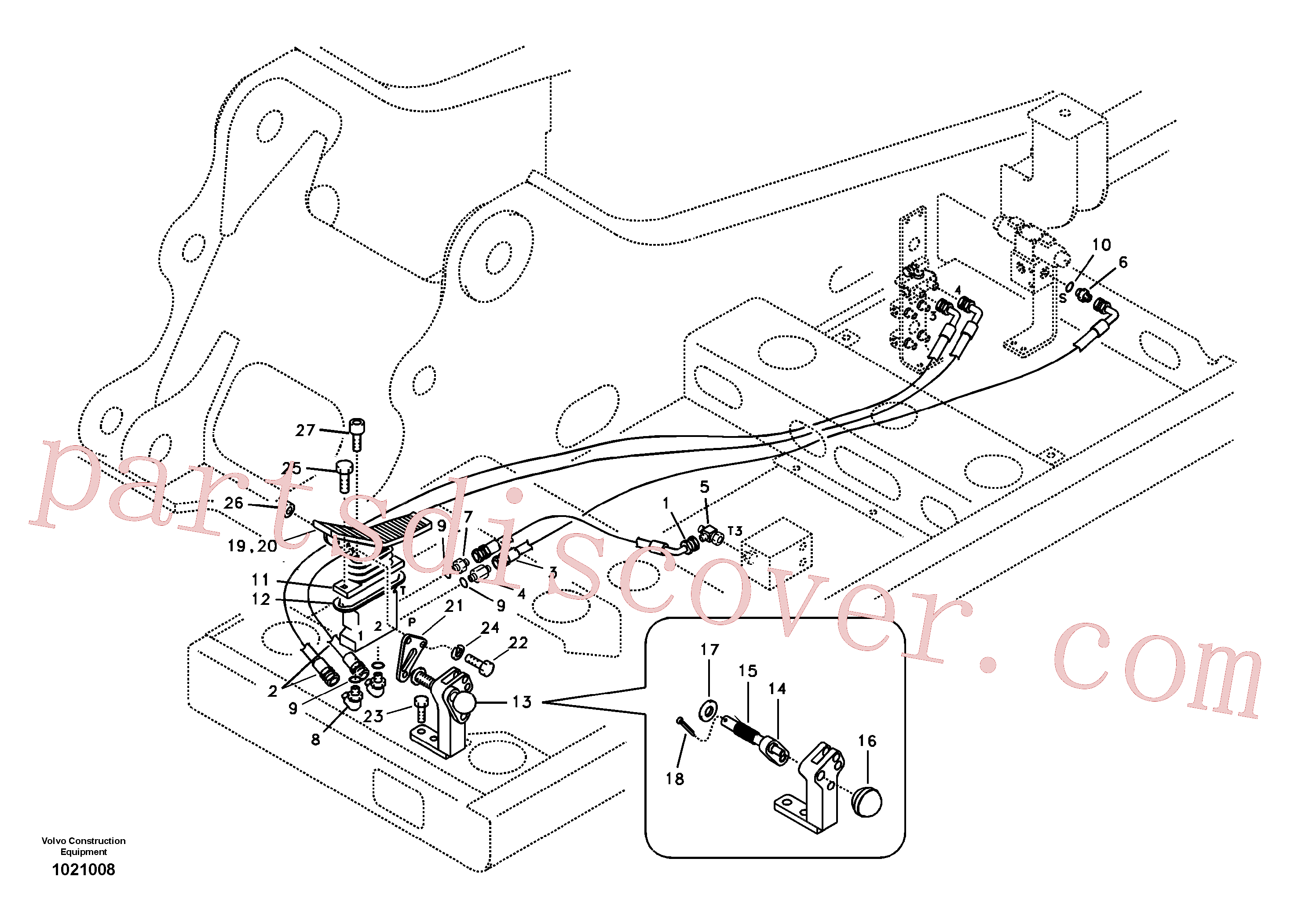 SA9323-02912 for Volvo Servo system, hammer and shear(1021008 assembly)