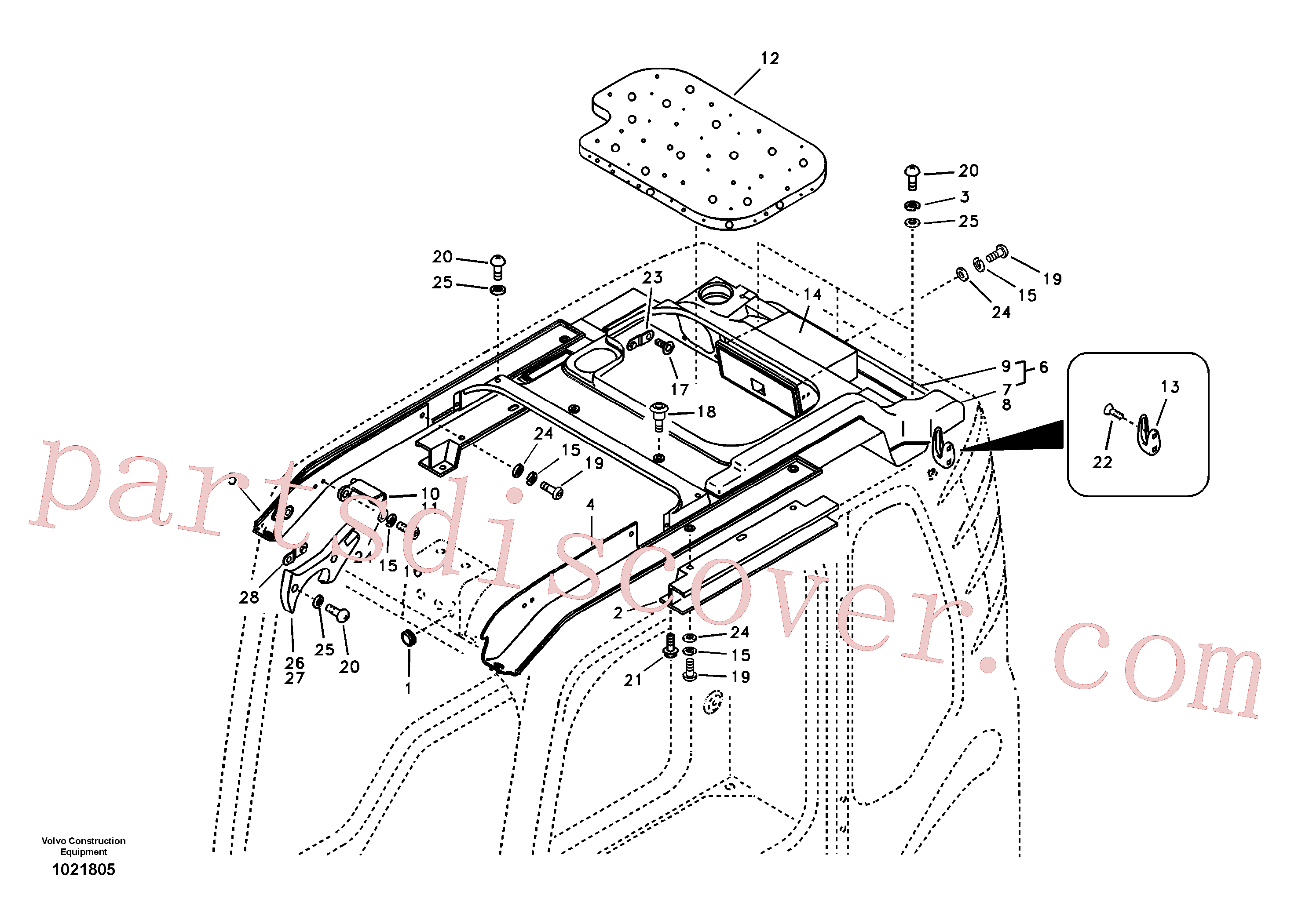 VOE969737 for Volvo Operator's cab(1021805 assembly)