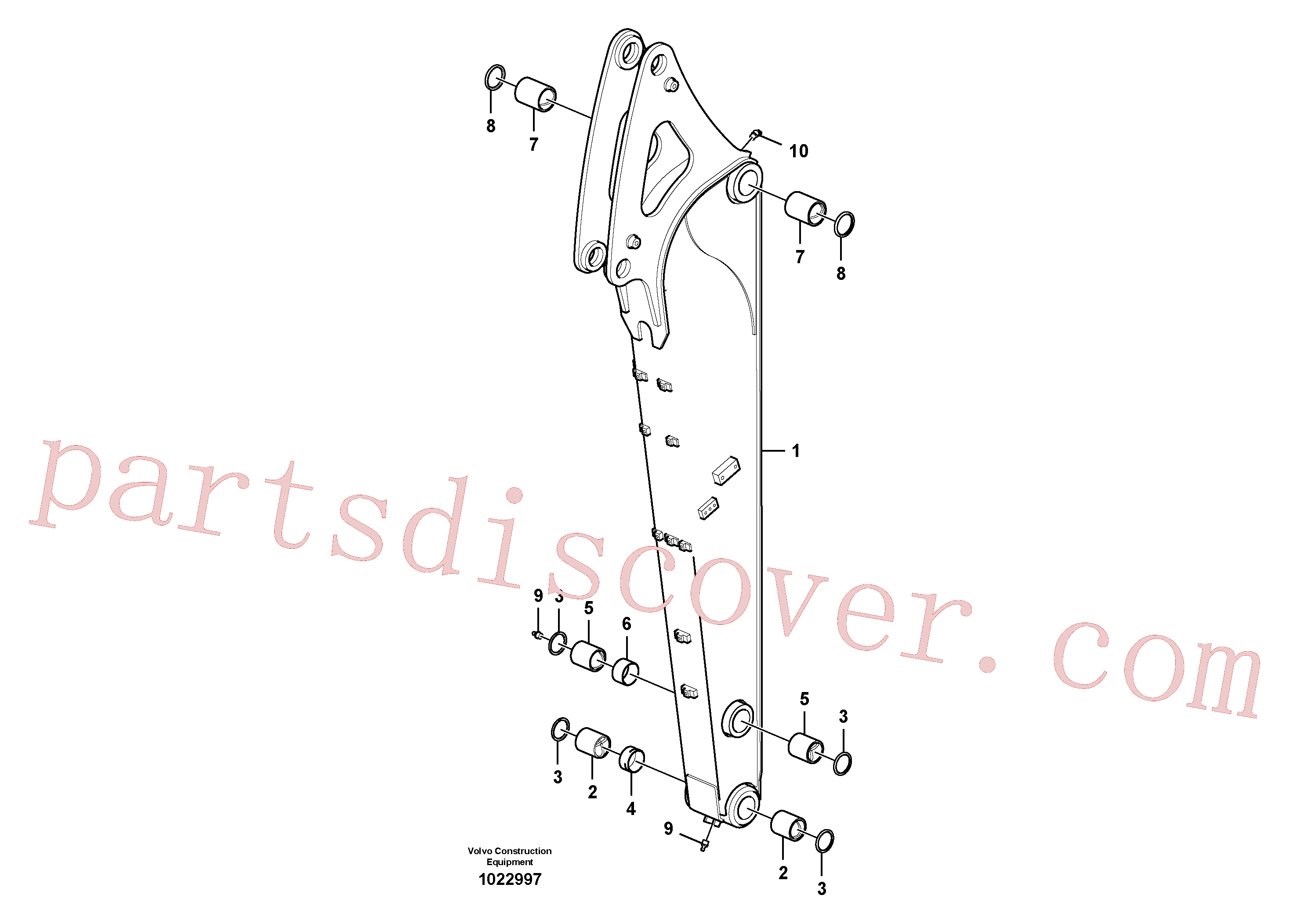 VOE14611894 for Volvo Dipper arm.(1022997 assembly)