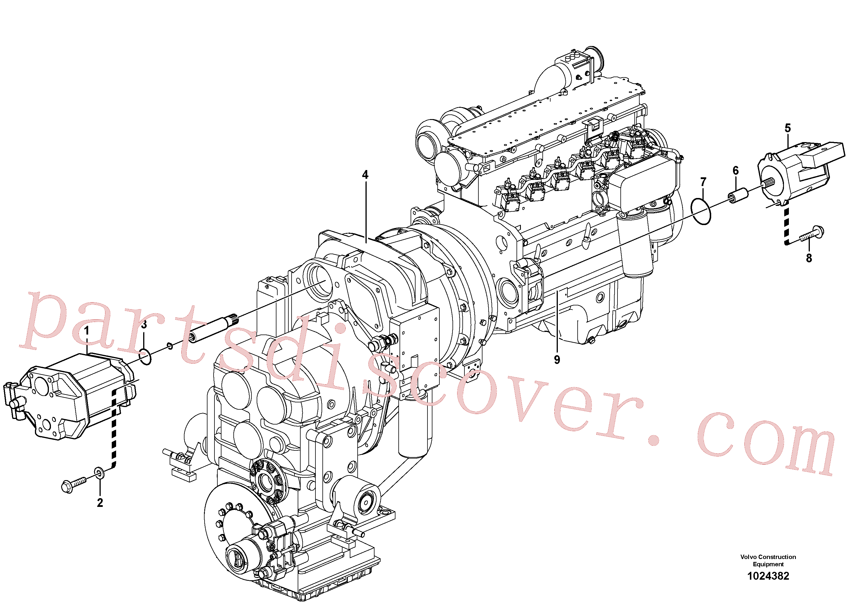 ZM2900654 for Volvo Hydraulic pump with fitting parts(1024382 assembly)